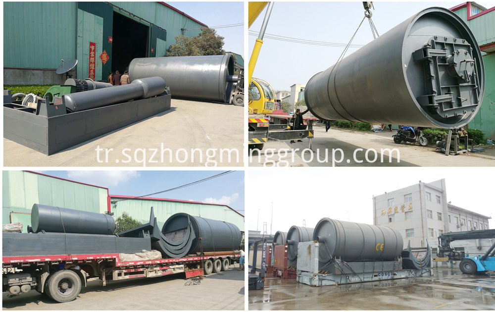 tyre pyrolysis plant carbon black
